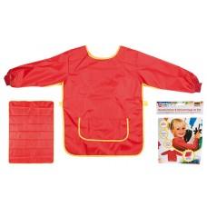 Idena Sortulet lucru manual rosu 7-8 ani + protectie masa 100*70cm