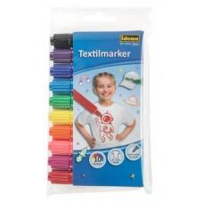 Idena Marker pentru textile set 10 culori
